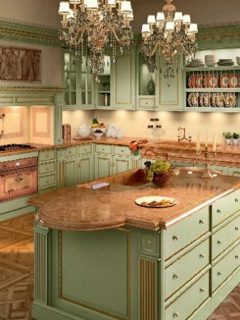 Luxury hand painted solid wood Kitchen