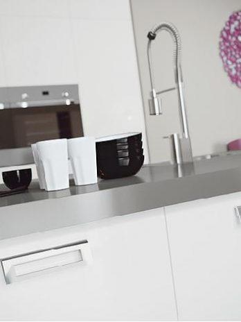Modern kitchen with minimalist style.