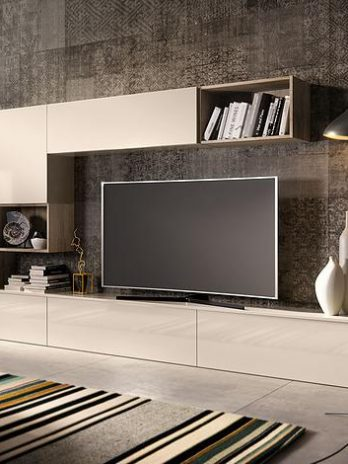 Italian Modern cabinet kitchen, lacquered gloss