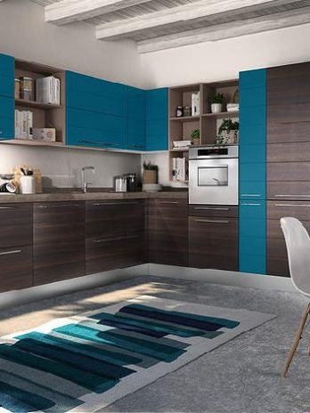 Modern kitchen with polymeric Panels.