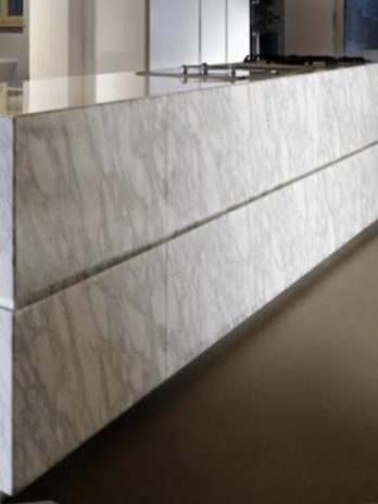 Natural white marble luxury Kitchen