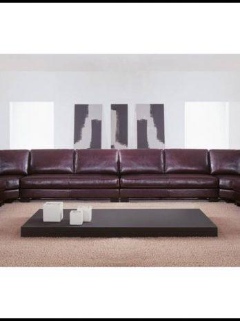 Large Italian sofa leather. Semicircle – Corner