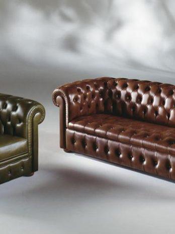 Chester Italian sofa and armchair leather