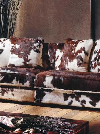 Calf Skin sofa and armchair