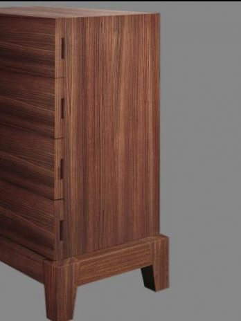 Italian manufacturer chest of drawers, embedded handles.