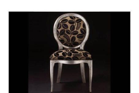 Contemporay style Chair ice silver