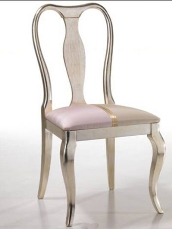 Contemporay style Chair velato silver
