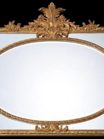 Luxury wall mirror frame burnished gold