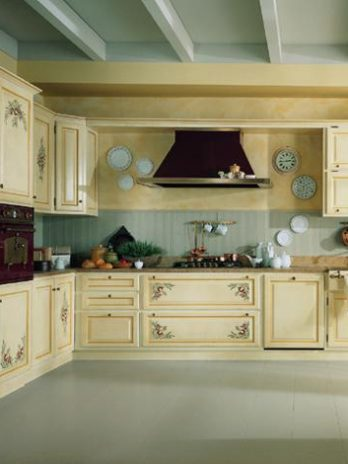Italian manufacturer luxury Kitchen – Hand painted solid wood